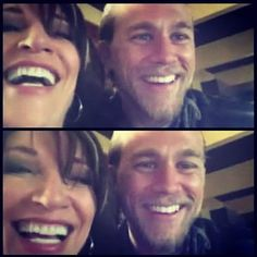 CHARLIE HUNNAM AND KATEY SEGAL SONS OF ANARCHY