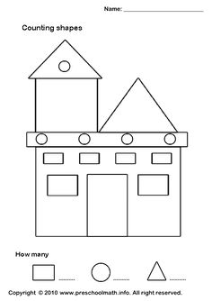 math worksheet : find trace color and count the shapes triangle  triangle shape  : Shapes Worksheet Kindergarten