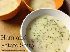 Easy ham and potato soup great for cold winter evenings.