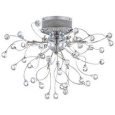 Possini Euro Crystal Balls 23 Wide Ceiling Light - totally my favorite, still. Love the wildness. Too wacky? Crystal Sconce, Crystal Wall, Wall Lights, Ceiling Lights, Metal Ceiling, Contemporary Pendant Lights, Ceiling Light Fixtures, Cool Lighting, Lighting Ideas