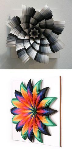 Jen Stark's paper art