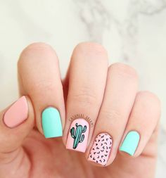 41 eye-catching mismatched nail art design ideas - nails ,matte nail art #nails #nailart