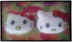 1 llavero (o broche) de hello kitty kawaii, sweet y cute en peluche de fieltro