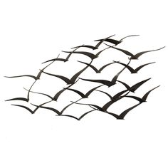 Handcrafted Flock of Metal Flying Birds Wall Art | Overstock.com Shopping - Big Discounts on Metal Art