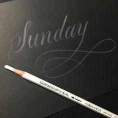 Sunday  #lettering #calligraphy #handlettering #customlettering #goodtype #typespire #thedailytype #handtype #handmadefont #calligritype #typegang #design #drawing #handdrawn #handwritten #letters #pencil #white  #handmade #carandache #sunday #レタリング #カリグラフィー #書 #アート #デザイン #インスタ書道部 #白 #鉛筆 #カランダッシュ