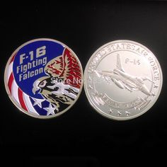 F-16 Fighting Falcon souvenir coin,United State Air Force Coin,