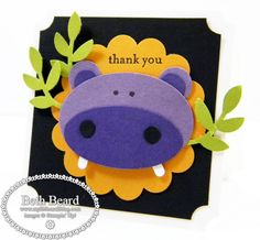 Stampin' Up!  Punch Art  Beth Beard  Hippo