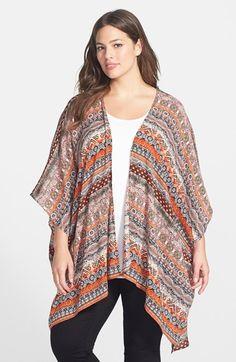 Forgotten Grace Print Kimono (Plus Size) available at #Nordstrom