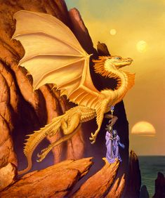 """GOLDWING (2002) by Michael Whelan  Acrylic on Panel - 24"""" x 20""""  Painted for the cover of my..."""