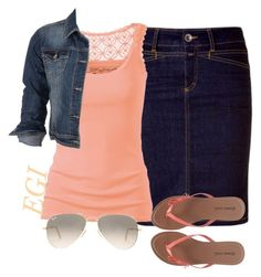 """""""Adorable! ~Grace"""" by isongirls ❤ liked on Polyvore featuring Fat Face, Wet Seal, maurices and Ray-Ban"""