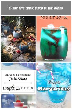 ⠀⠀⠀⠀⠀⠀⠀⠀⠀⠀⠀⠀ ◉ VzcoMade of the da blue drink Cocktail Recipes, Cocktails, Blue Drinks, Shark Bites, Jello Shots, Margarita, Shot Glass, Tableware, Holiday