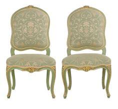 antike stuhle antike mobel seiten stuhle gealterte malerei 19 jahrhundert