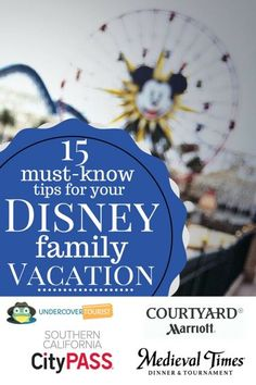 15 Must Know Tips for your Disney Family Vacation pinterest