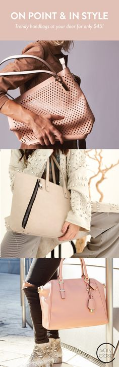 Want a trendy handbag for $45 every month or two months? Try Ivory Clasp. Get a $100+ retail priced handbag with Free Shipping when you sign up today! 100% satisfaction guaranteed.
