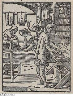 """1568 Jost Amman and Hans Sachs - The Tailor from the Book of Trades. (""""Der Schneider."""" aus Eigentliche Beschreibung aller Stände auf Erden)"""