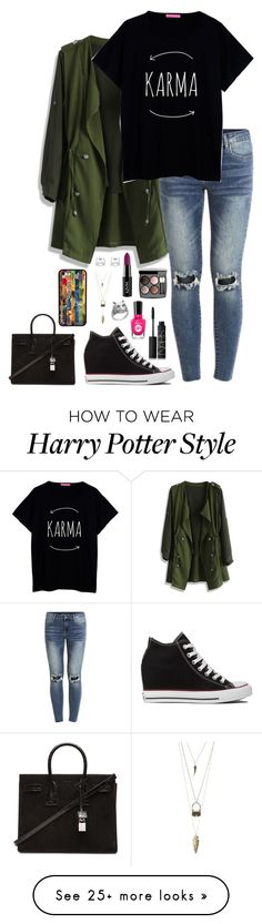 """""""....."""" by aprilmaerenner on Polyvore featuring Chicwish, VILA, Converse, NARS Cosmetics, Sally Hansen, Chanel, Charlotte Russe and Yves Saint Laurent"""