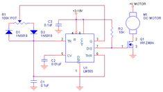 Регулятор оборотов двигателя на микросхеме LM555 » Меандр - занимательная электроника