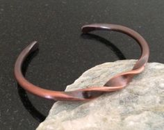 Mens Copper Bracelet BR006P Twisted Double by CopperMillDesigns