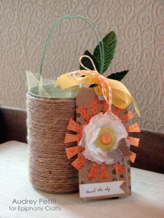DIY Rope Wrapped Coffee Cans | #jute #craft #up-cycling