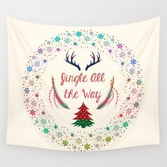 Tapestry, wall tapestry, Christmas decor, Cute tapestry,decorative tapestry, wall hanging, wall art by Famenxt on Etsy https://www.etsy.com/listing/254040079/tapestry-wall-tapestry-christmas-decor