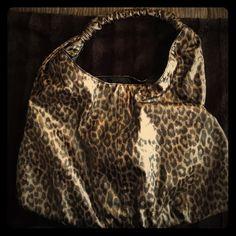 Leopard hobo Bebe patent leopard hobo gently used some wear on handle see photo bebe Bags Hobos