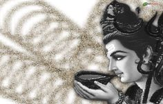 This is black and white image of Lord Shiva drinking cup of poison, black and white color Hindu Culture, Shiva Wallpaper, Spiritual Thoughts, White Image, Lord Shiva, Black And White Colour, Drinking, Tattoo Ideas, Spirituality