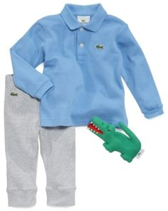 Wrap your darling baby boy in cute and playful clothes for new borns, Lacoste polo kids fans will love our fashionable baby shoes and apparel. Shop here now!