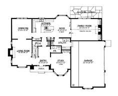 European Tudor House Plan 86020 Level One