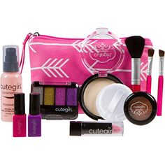 Cutegirl Cosmetics Pretend Play Makeup Kit. Designer Girls Arrow Essential Bag Set >>> You can find more details by visiting the image link.