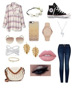 """First day!!"" by ellaxbrooke on Polyvore featuring Gap, 2LUV, Converse, T-shirt & Jeans, Candie's, BERRICLE, Casetify, Marc Jacobs, Burberry and Effy Jewelry"