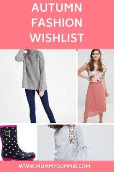 Autumn Fashion wishlist from Love the sales, featuring cosy jumpers, colourful wellies, PJs, knee high boots and Jumpers, Pjs, Knee High Boots, Toddler Boys, Autumn Fashion, Dressing, Lifestyle, Stylish, Blog
