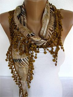 ON SALE  Brown scarf-Zebra Scarf Cotton Scarf Gift Scarves