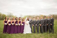 purple and grey bridal party - Google Search