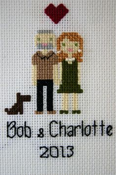 Custom Cross Stitch Family Personalized by SeaOfDreamsCrafts, $25.00