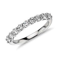 Belle Classic Diamond Ring in Platinum Platinum Diamond Rings, Diamond Wedding Rings, Diamond Engagement Rings, Diamond Jewelry, Engagement Bands, Wedding Engagement, Gemstone Jewelry, Jewelry Rings, Blue Nile Wedding Band