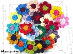 Crochet Applique Embellishments Flowers by HomeArtist on Etsy, $14.00