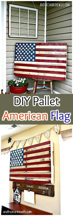Beautiful Handmade Pallet American Flag - 150 Best DIY Pallet Projects and Pallet Furniture Crafts - Page 40 of 75 - DIY & Crafts