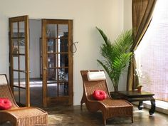#spa waiting room with clean lines, minimalist but oh so inviting!