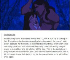 I LOVE THIS. LIKE SERIOUSLY. This is my favorite scene in the movie and omg the way he looks at her with so much tenderness.... UGHHH THE FEELSSS... and this is a cartoon!;DDDD