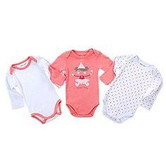 3pcs Long Sleeve Infant Rompers  #infant #bodysuits #Jumpsuits