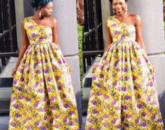 Africano ropa Maxi vestido Ankara imprimir impresión por Veroexshop