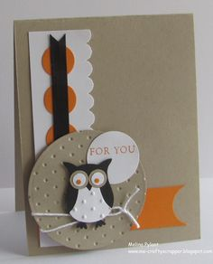 Stampin Up It's OWL for You Greeting Card