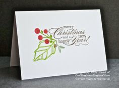 One layer Christmas card - and some winners!