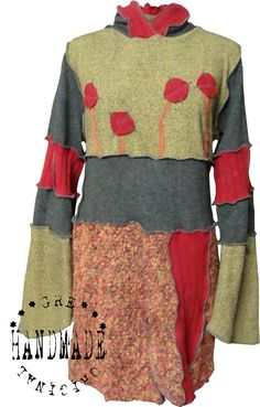 SWEATER DRESS size M/L Made from recycled sweaters reuse by Grecha, €169.95