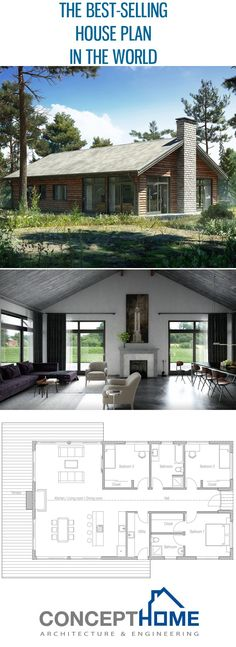 Best selling house plan in the world ! Architecture - itersantes Best selling house plan in the world ! Architecture Best selling house plan in the world ! Simple House Plans, Best House Plans, Simple Floor Plans, Simple House Design, Facade Architecture, Residential Architecture, Industrial Architecture, Industrial Interiors, Vintage Industrial
