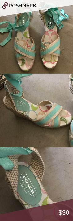 Coach wedges Tie wedges Coach Shoes Wedges