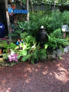 "One of our ""Disappearing Fountain"" displays at the Nursery."
