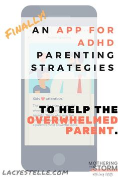 an ADHD parenting strategies app.Breaking down parenting lessons into minute short slideshows that you can begin applying to your parenting. Practical Parenting, Parenting Goals, Parenting Classes, Single Parenting, Kids And Parenting, Parenting Hacks, Adhd Help, Adhd Strategies, Adult Adhd