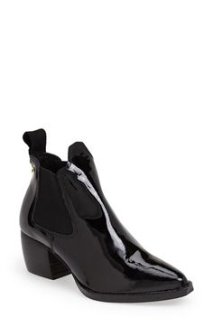 Topshop 'Margot' Leather Ankle Bootie
