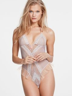 Ruffle Lace Teddy - Dream Angels - Victoria's Secret